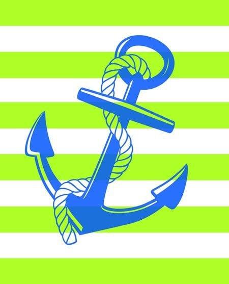 green anchor free printable