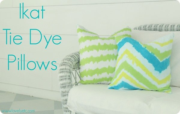 ikat tie dye pillows