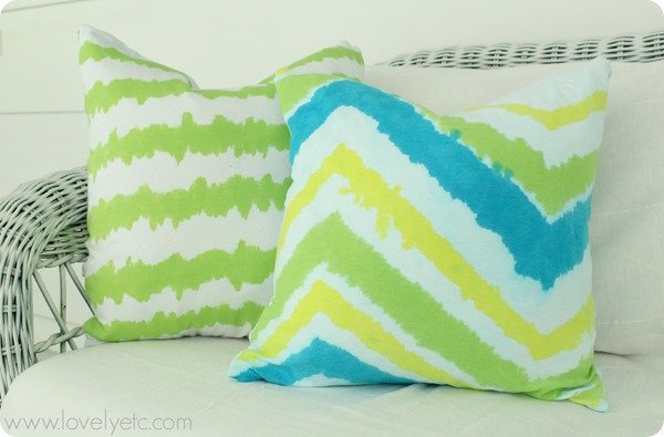 tie dye ikat pillows