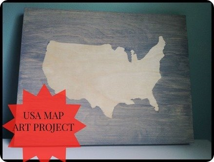 usa map art project