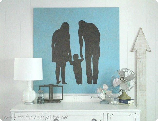 DIY family silhouette