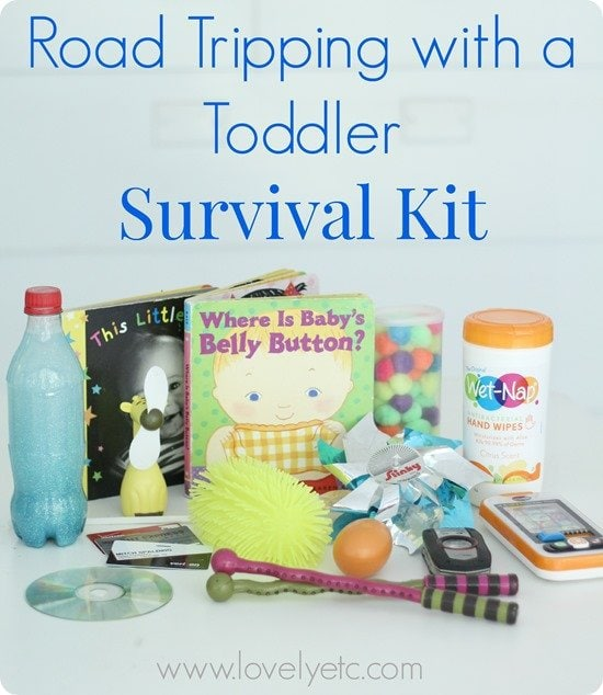 road tripping with a toddler survival kit