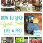 Yard Sale Like a Pro: What I Buy