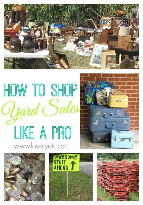 shop yard sales like a pro