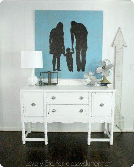 DIY family silhouette artwork