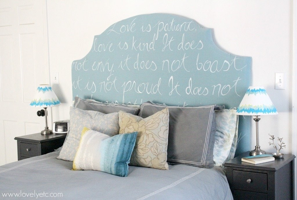 Painted Headboard On Wall a diy home - lovely etc.