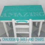 Turquoise Chalkboard Table and Paint Giveaway