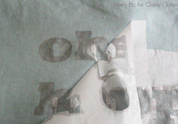 clean lines wiht a freezer paper stencil