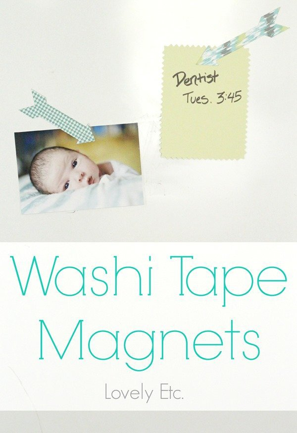 diy washi tape arrow magnets