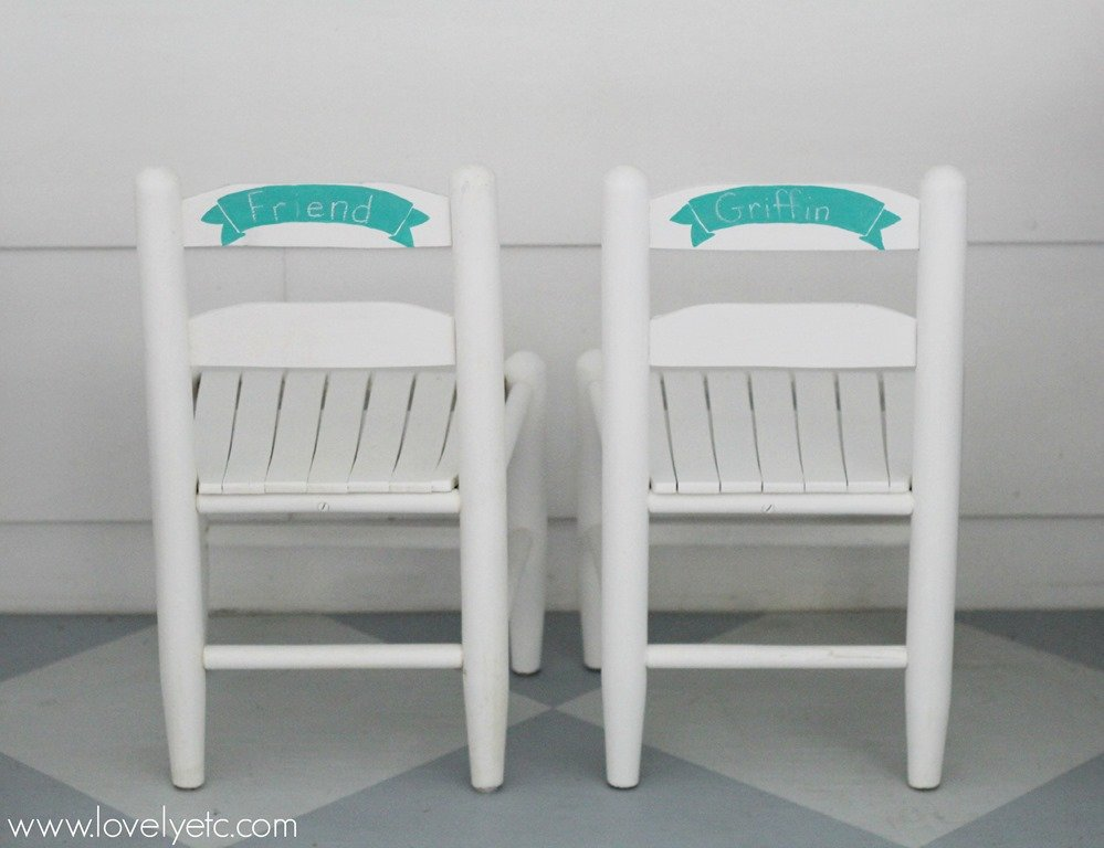 Kids Chairs With Chalkboard Labels