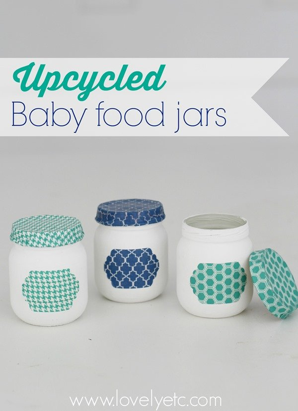 upcycled baby food jars