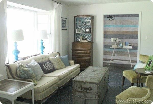 vintage DIY living room