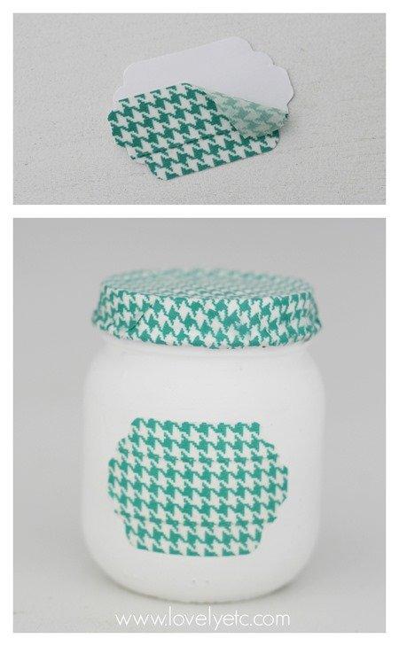 washi labled jars