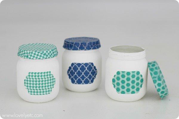 washi tape baby food jars