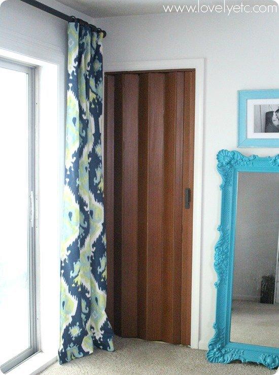 accordion door in bedroom