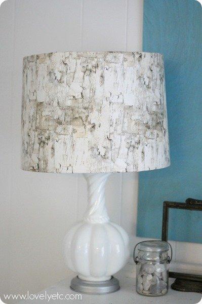 birch lampshade