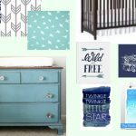 Navy, Aqua, and Gray Nursery Plan