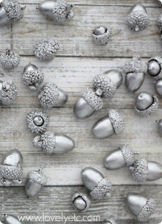 silver leaf acorns 4