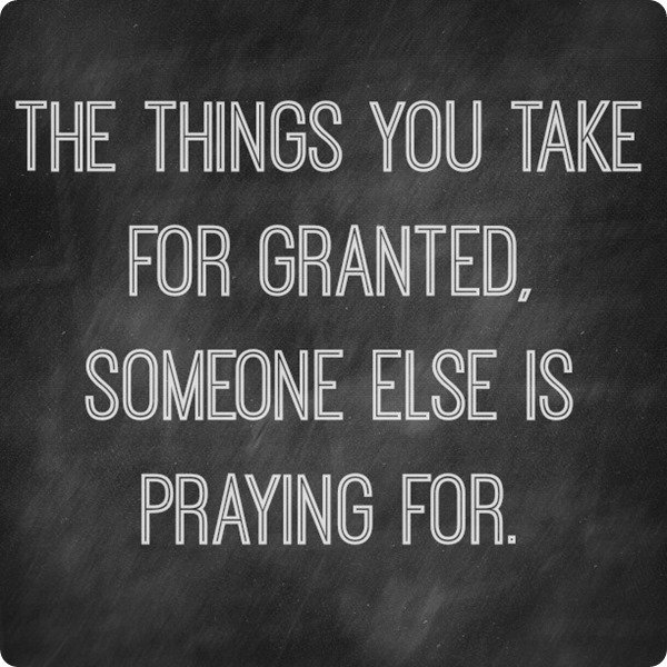 take for granted