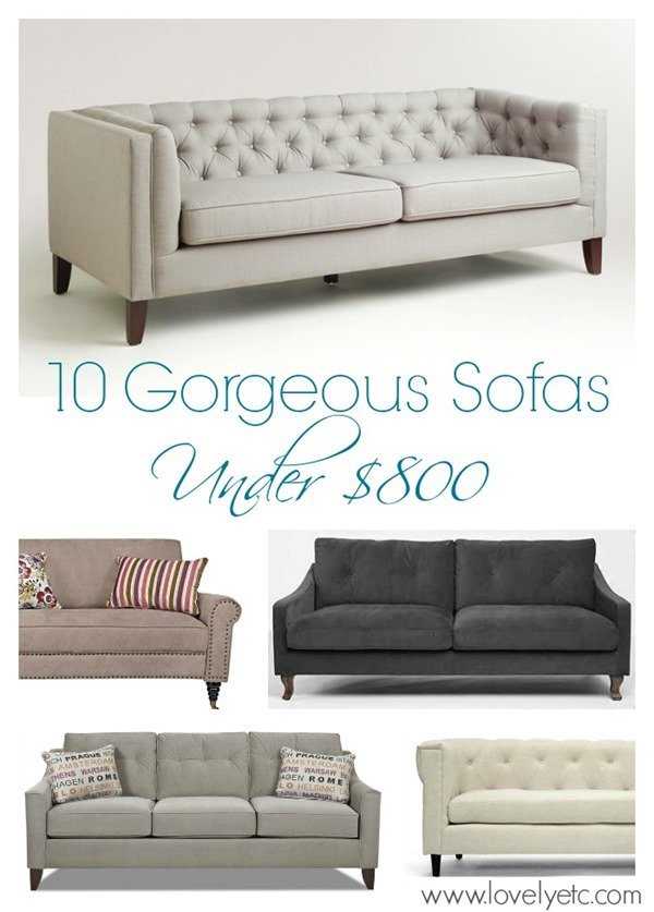 10 gorgeous sofas under 800 dollars