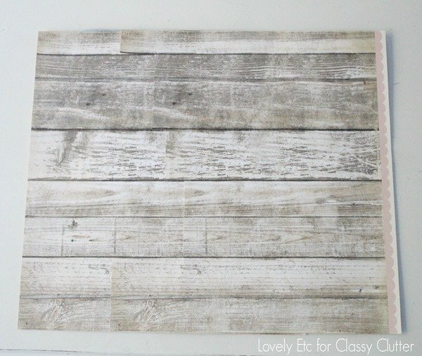 Wood scrapbook paper with hidden seam