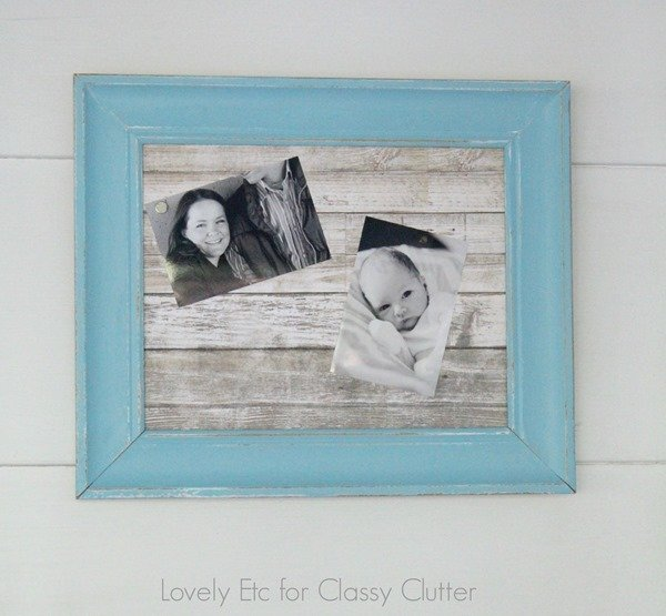 barn wood photo magnet board