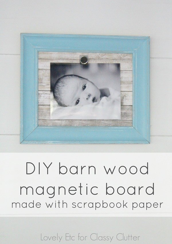 diy magnetic board for classy clutter
