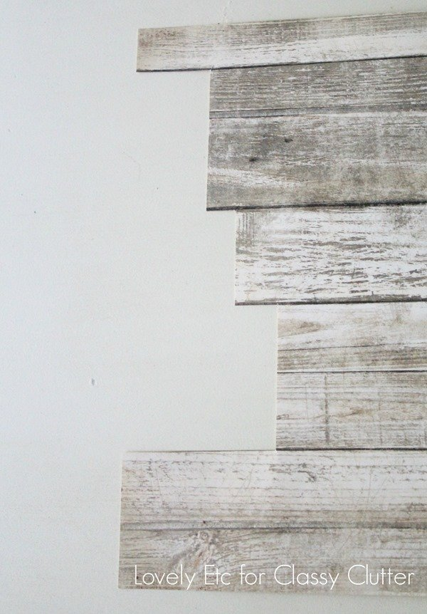 planked scrapbook paper