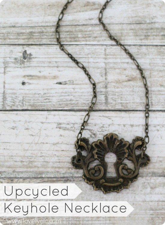 upcycled keyhole necklace