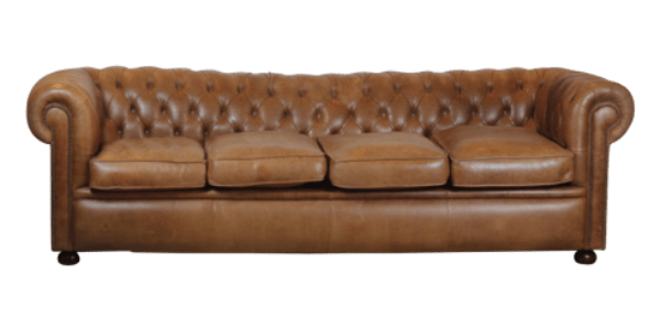 Vintage Leather Chesterfield Sofa From Viyet