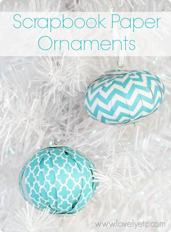 3d scrapbook paper ornaments