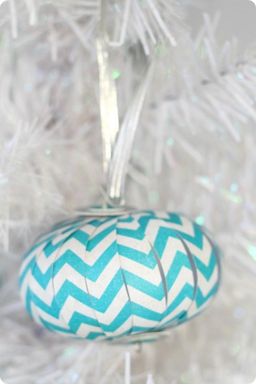 Chevron paper ornament