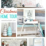 Aqua and Red Christmas Home Tour