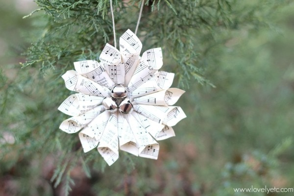 paper cone music note christmas ornament