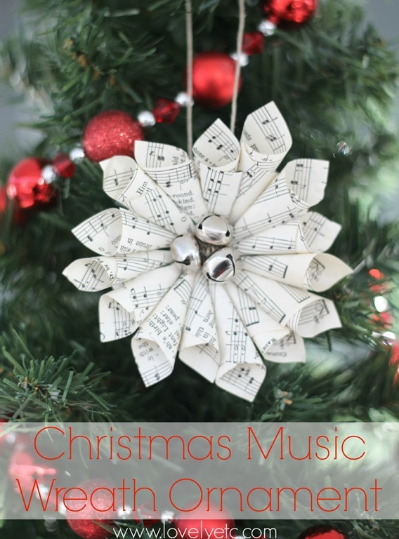 image relating to Free Printable Christmas Cantata titled Xmas Songs Wreath Ornament - Stunning And so on.