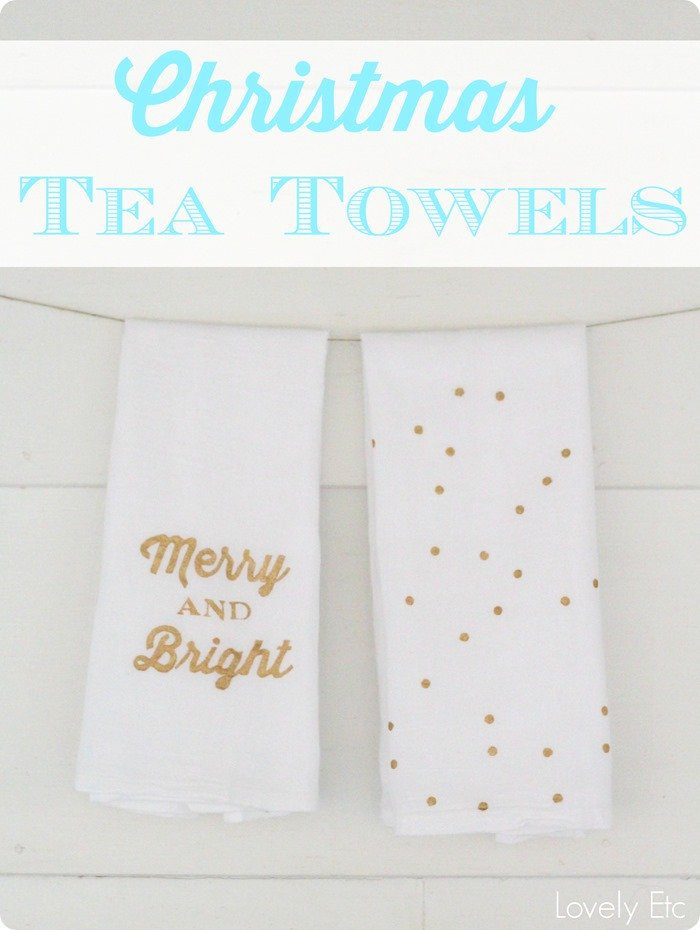 Homemade Christmas tea towels are an easy homemade Christmas gift that's personal and fun