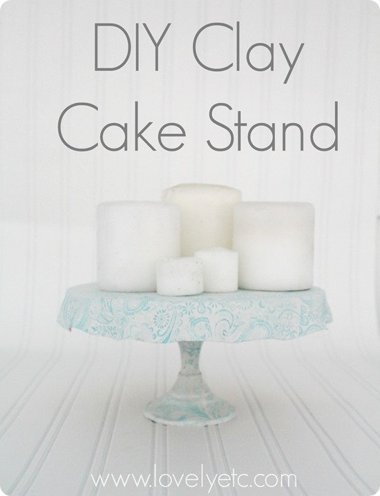 DIY clay cake stand