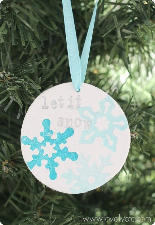 DIY clay ornament