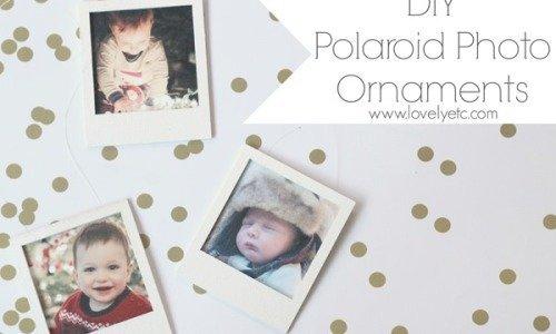 Easy Polaroid Photo Ornament
