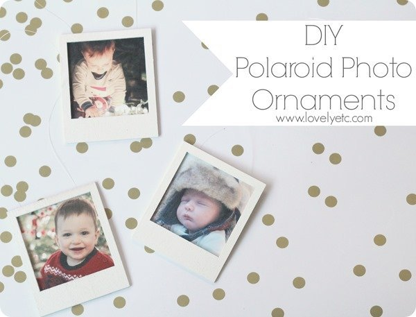 DIY polaroid photo ornaments