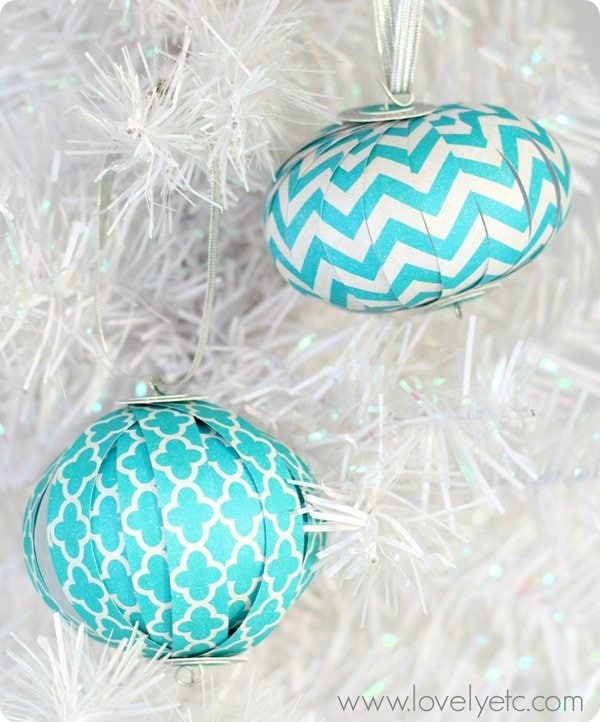 Scrapbook paper ornaments