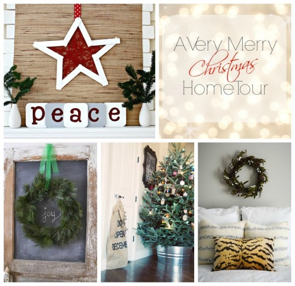 Thursday Christmas home tour collage