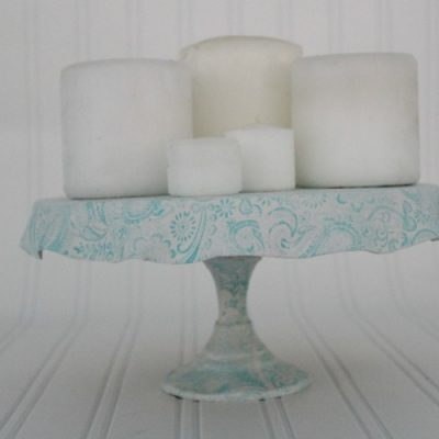 How to turn a cheap candlestick into an amazing cake stand