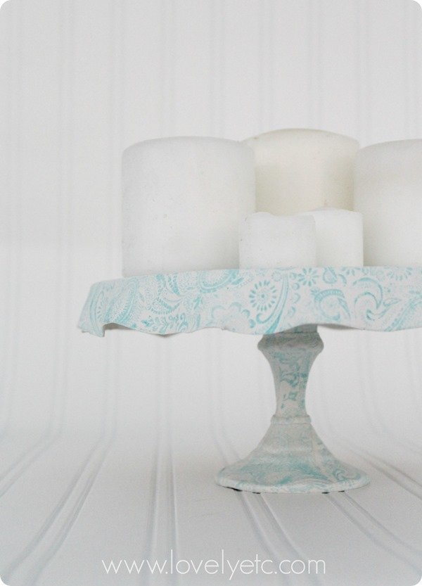 diy clay cake stand 2