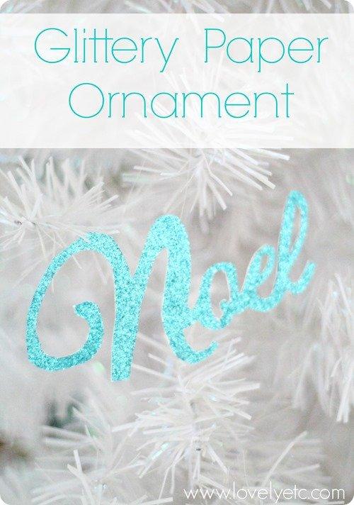 glittery paper ornament