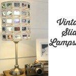 Vintage slide lampshade
