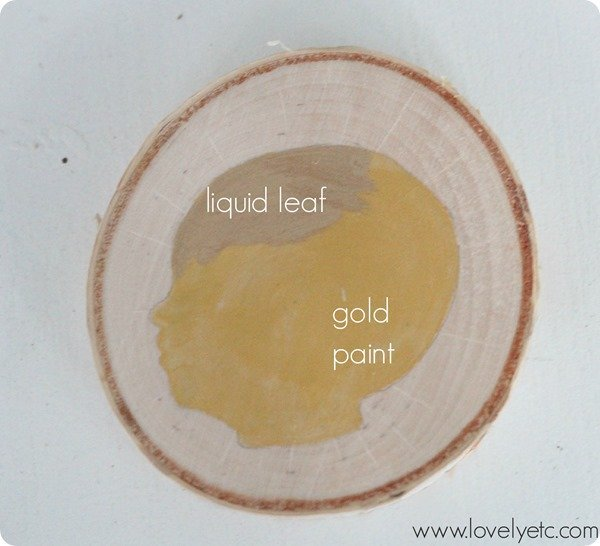 liquid leaf vs gold paint