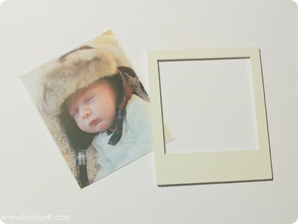 making polaroid ornament