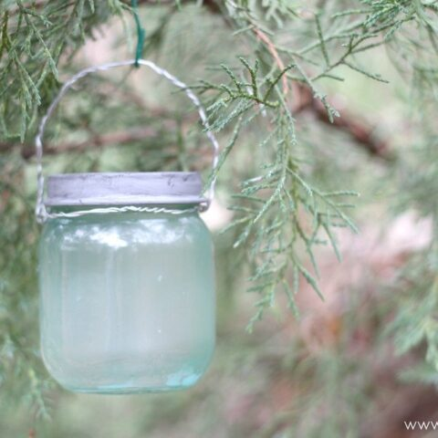 DIY Mini Mason Jar Christmas Ornament