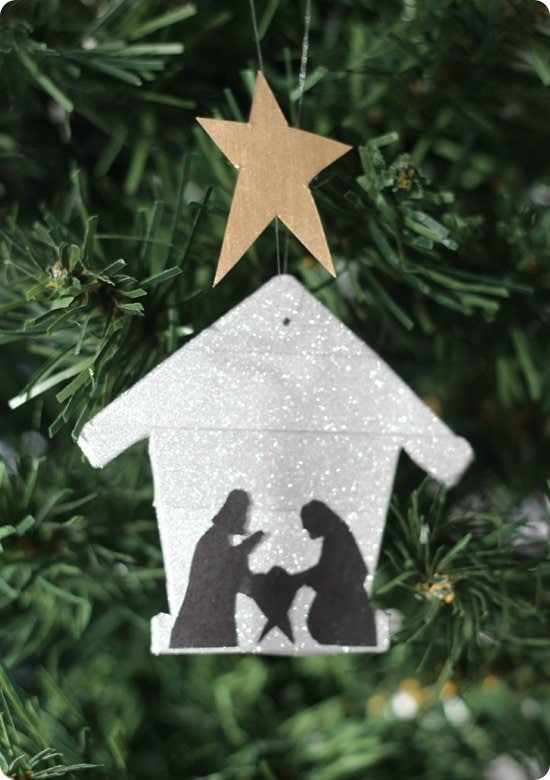 diy nativity silhouette ornament